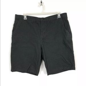Hurley Gray Flat Front Chino Shorts Mens Size 38